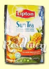 Lipton Sun Tea. Черный холодный чай с экзотическим персиком и манго в пирамидках