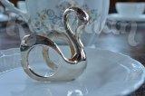 Кольцо для салфеток в форме лебедя. Посеребрение