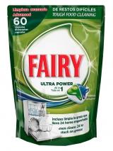 Fairy капсулы для посудомоечной машины 60шт / Original All in One astianpesuainetabletti
