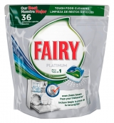 Fairy капсулы для посудомоечной машины 36шт / Platinum Original astianpesuainetabletti
