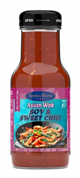 Santa Maria соевый соус и сладкий чили 250мл / Asian Wok Soy & Sweet Chili