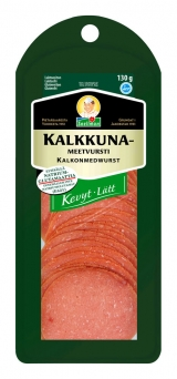 Snellman Легкая салями из индейки нарезка 130г / Kevyt kalkkunameetvursti вакуум. пак.