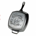 Lodge Square grill pan with Fish  Ø 26 cm